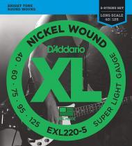 EXL220-5 Žice za petožičanu bas gitaru