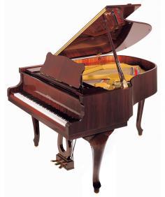 Klavir P159 Bora Demichippendale C/P crni polirani - 1