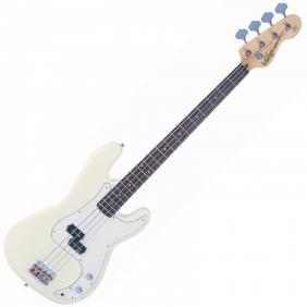 REISSUED V4VW Vintage White ~ bas gitara - 1