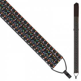 PNWSCL2167 CLASSICAL GUITAR STRAP WITH HOOK - MULTI WOVEN - 1