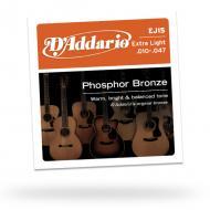 Set žica za akustičnu gitaru Extra Light Phosphor Bronze - EJ15